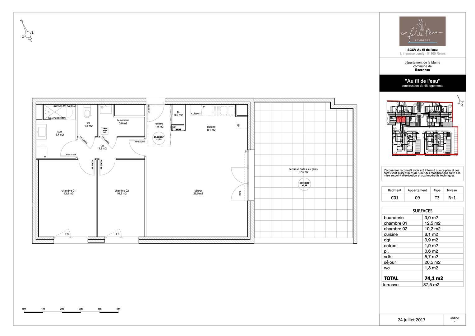 appartement C01-09 de type T3