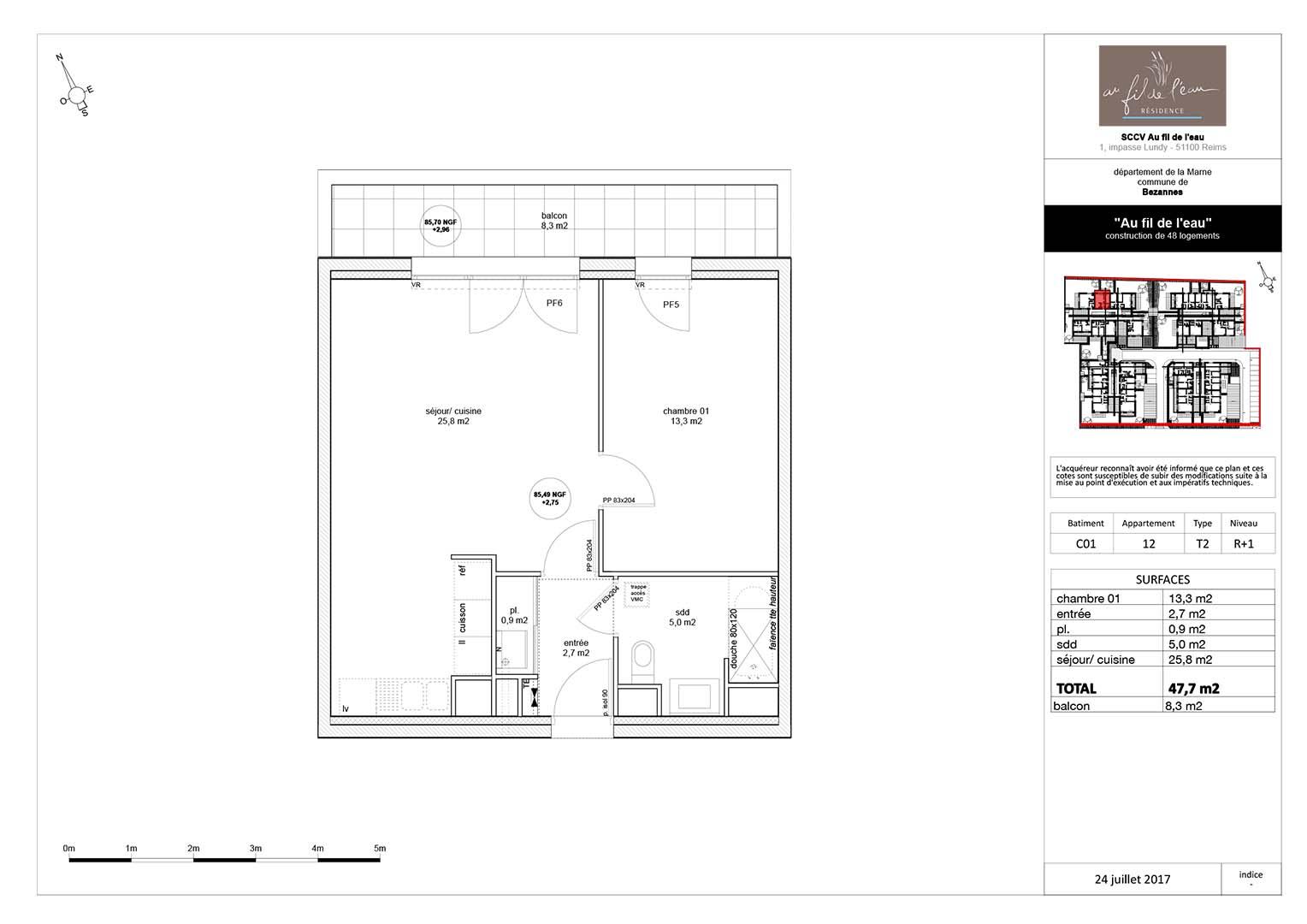 appartement C01-12 de type T2