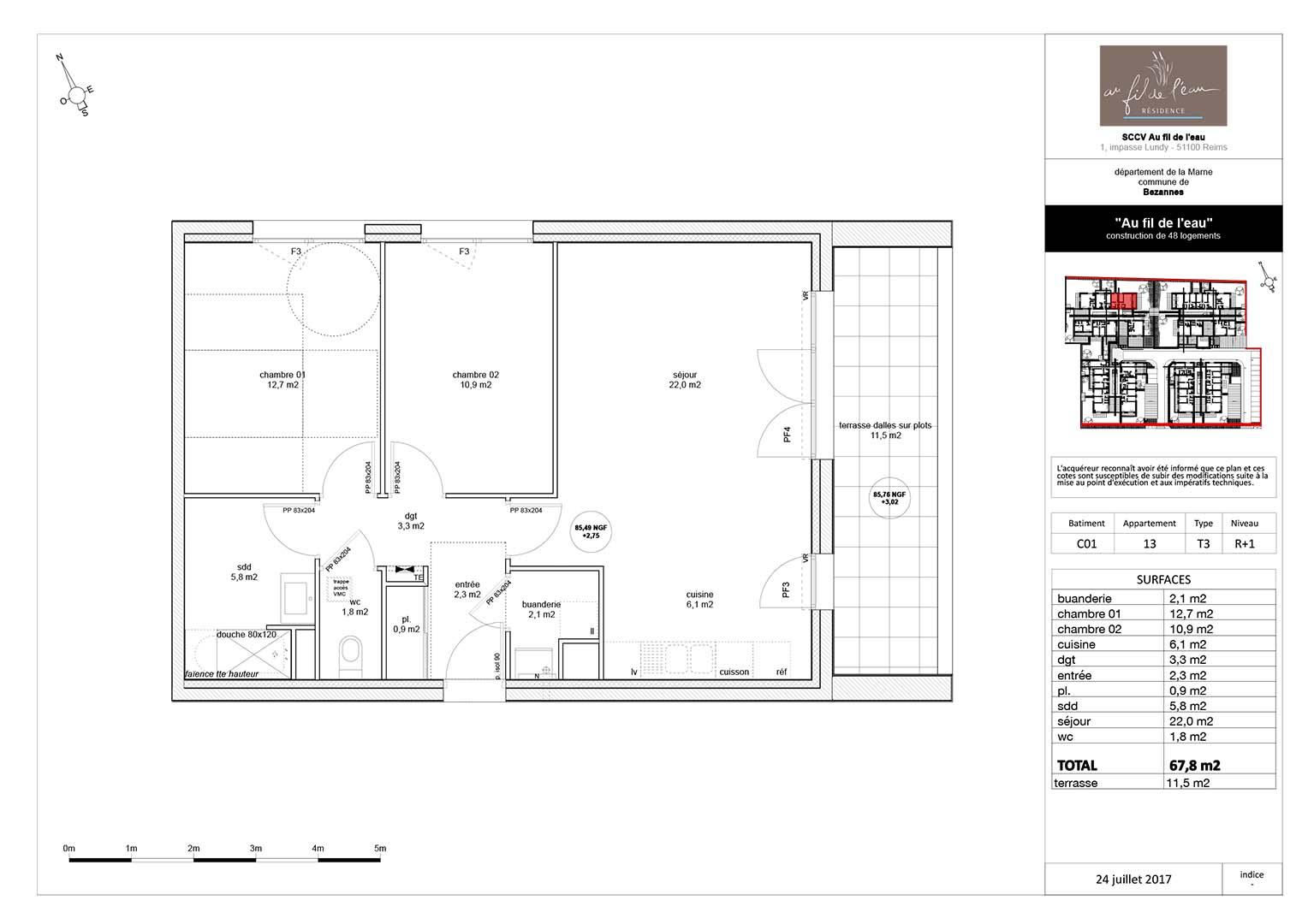 appartement C01-13 de type T3