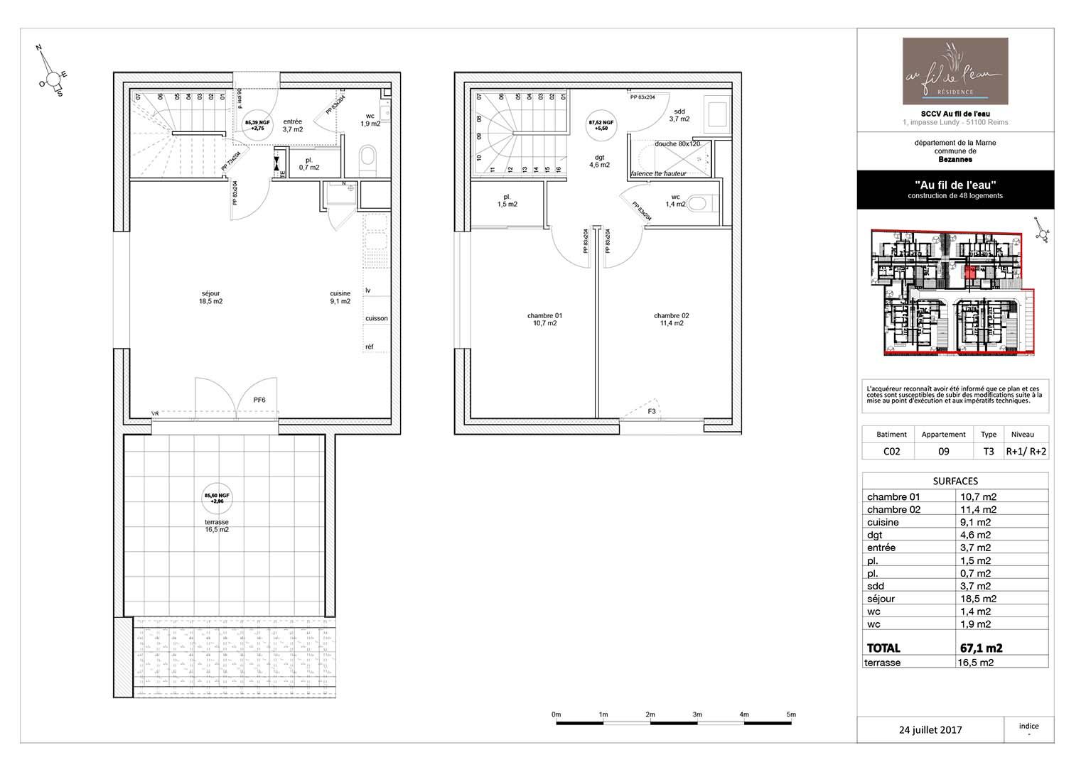 appartement C02-09 de type T3