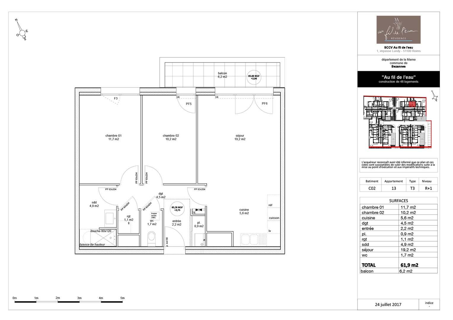 appartement C02-13 de type T3