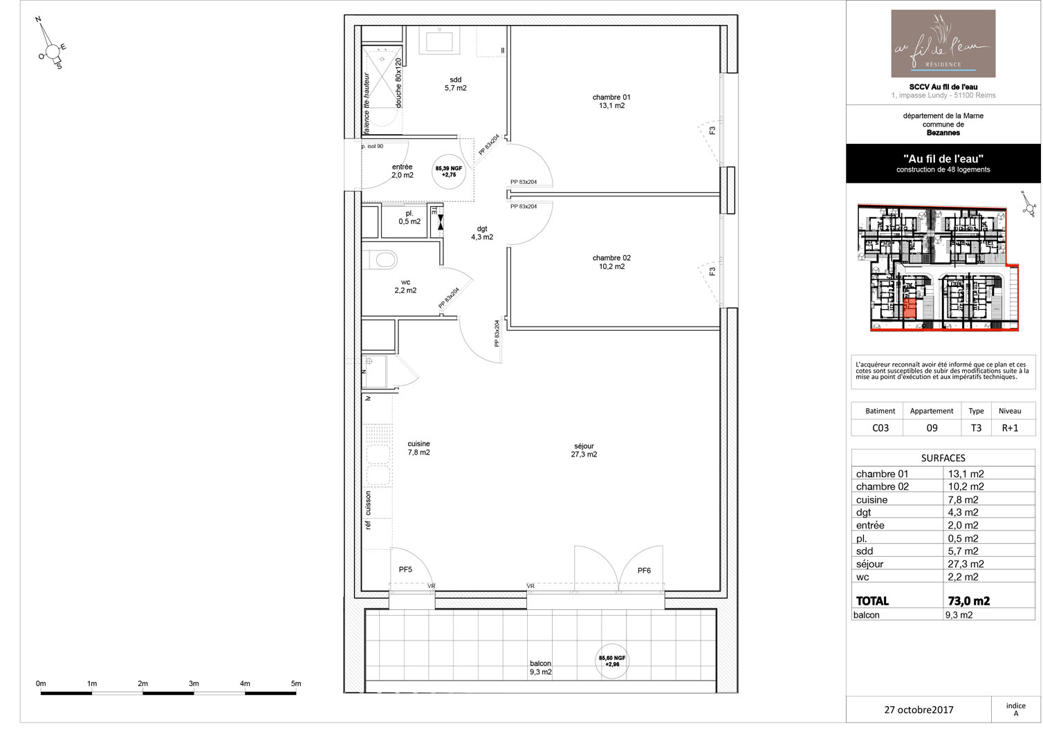 appartement C03-09 de type T3