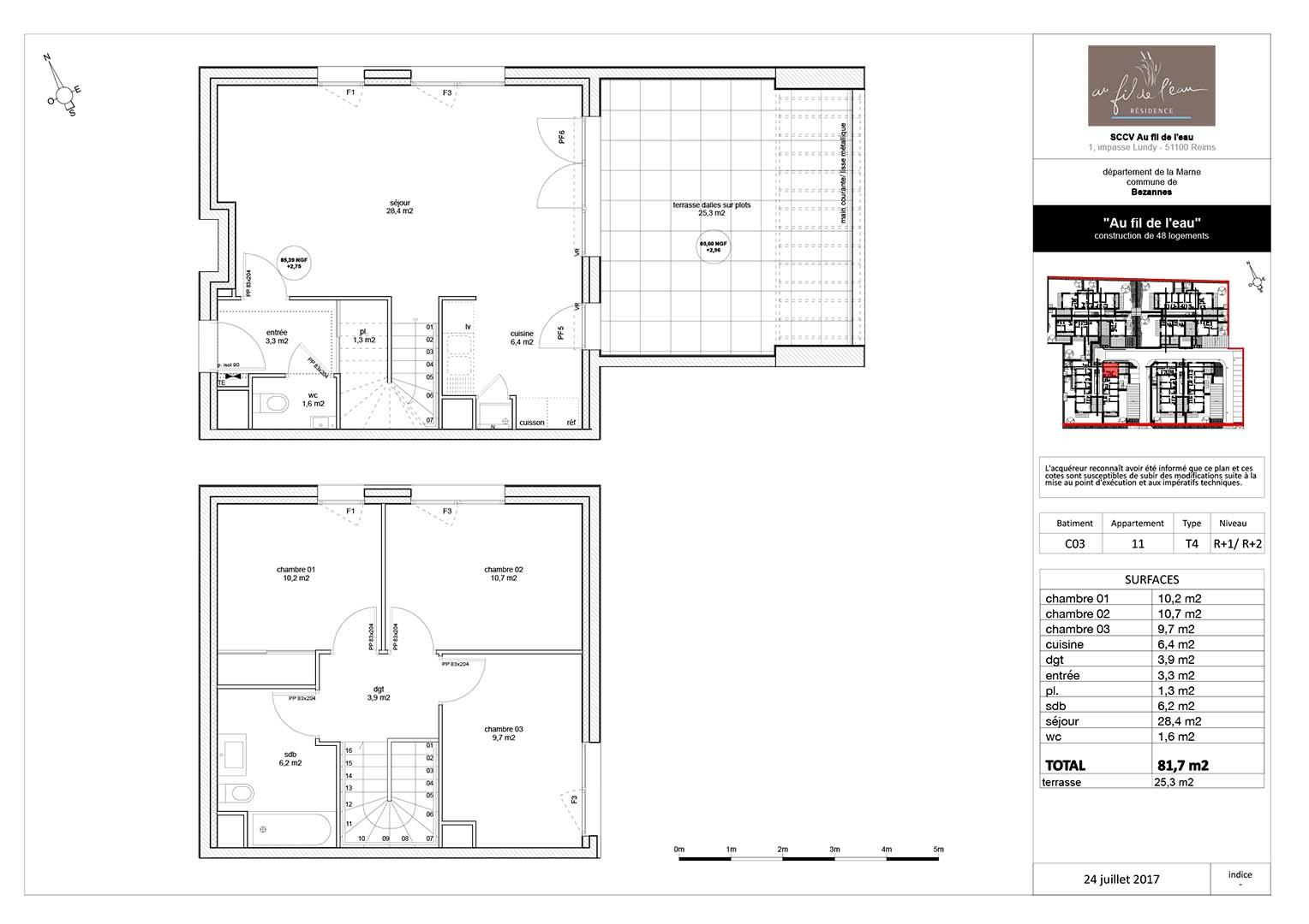 appartement C03-11 de type T4