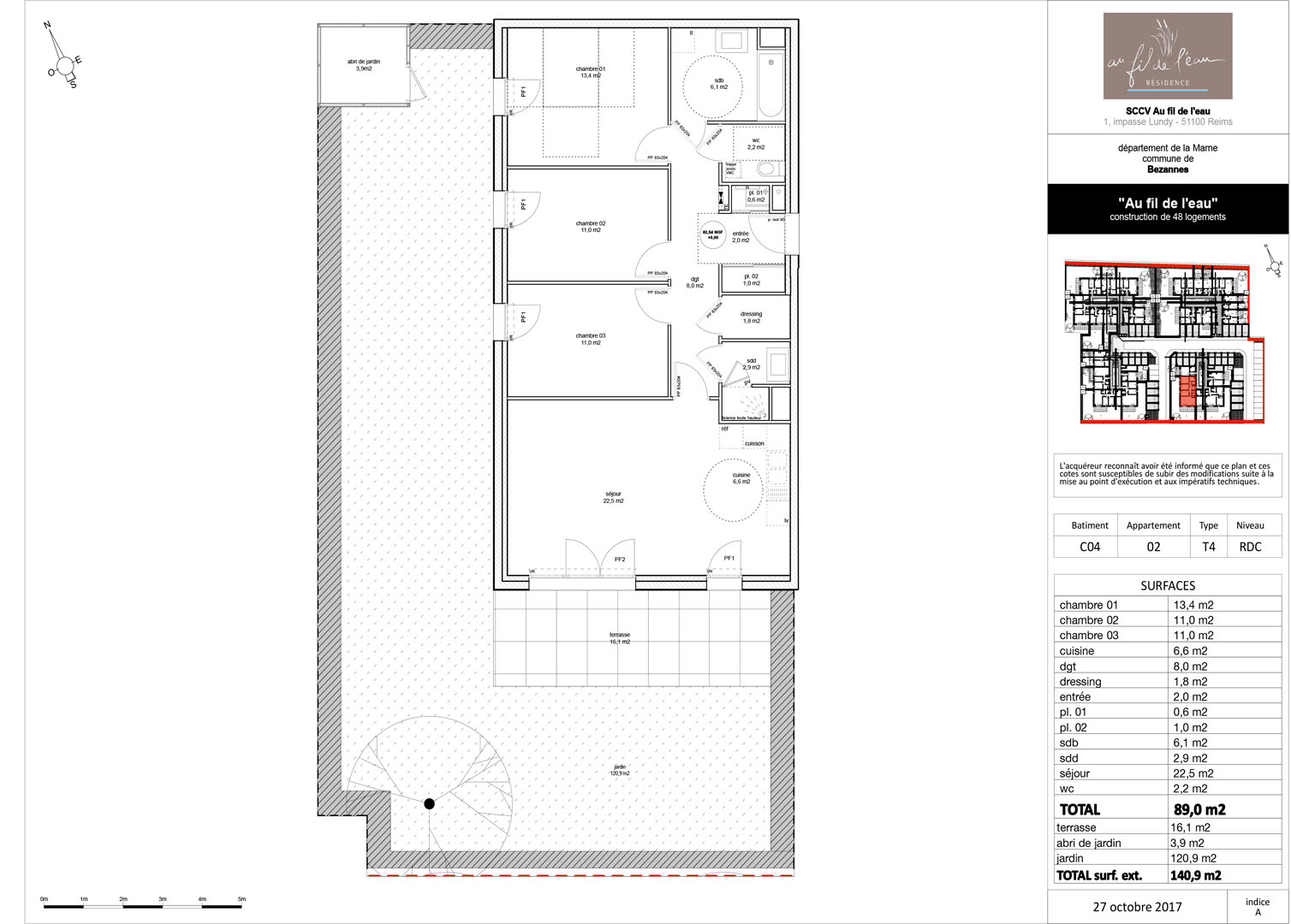 appartement C04-02 de type T4