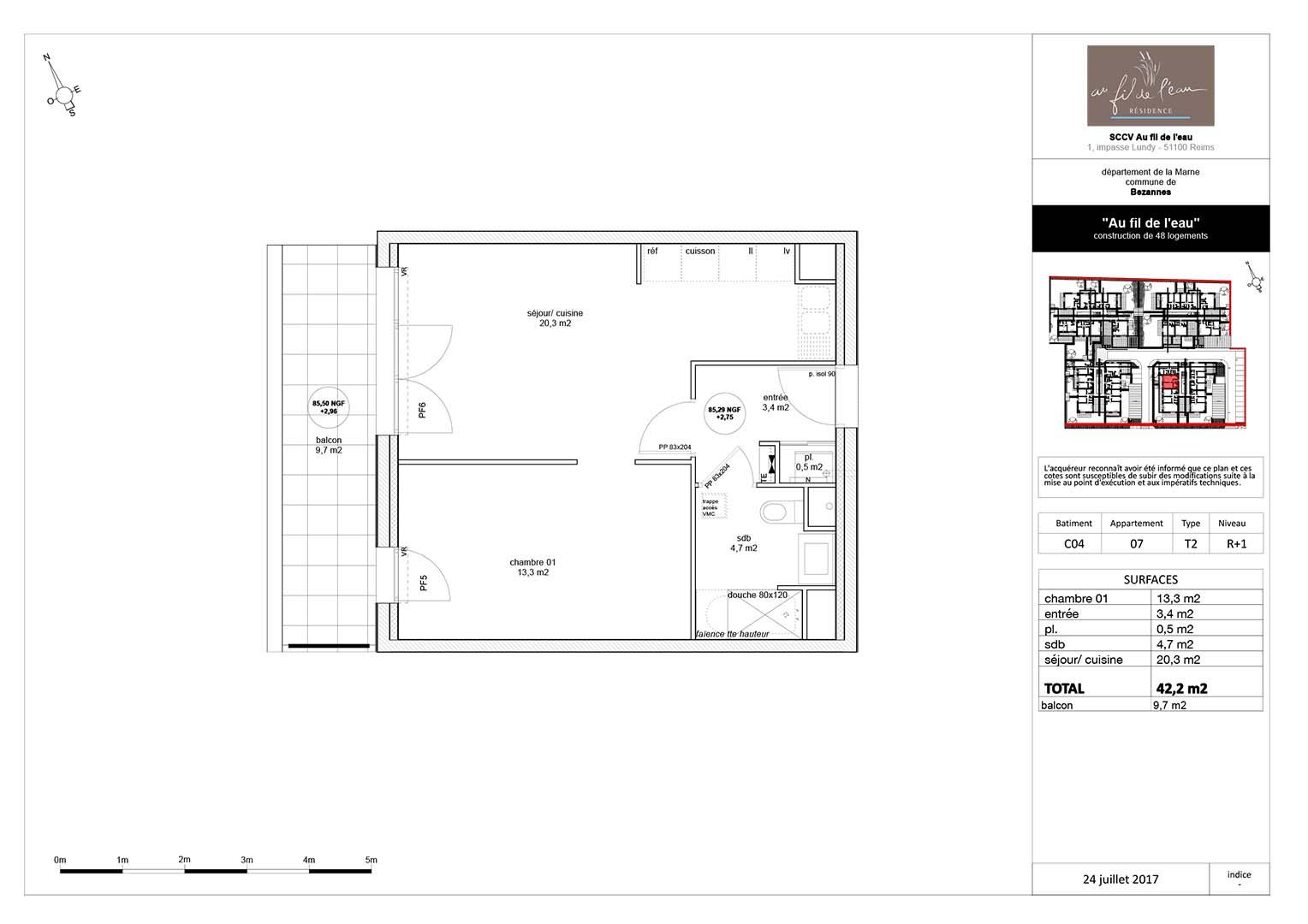 appartement C04-07 de type T2