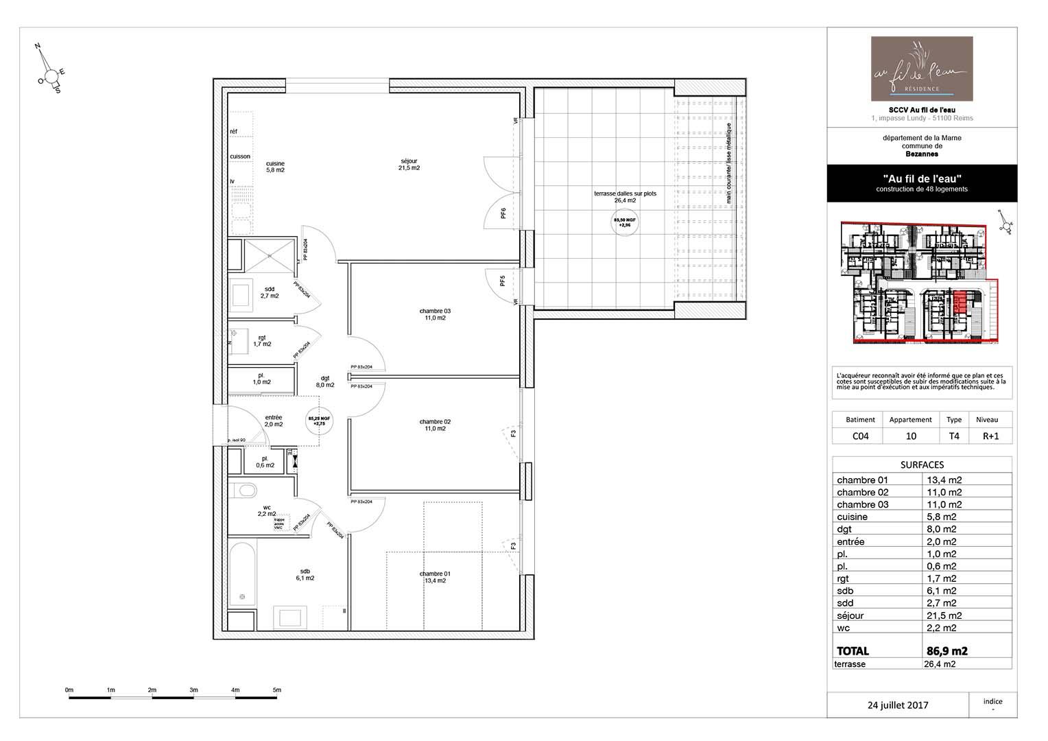 appartement C04-10 de type T4