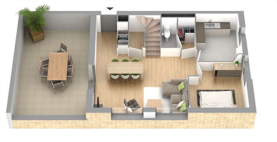 Appartement neuf bezannes r sidence au fil de l eau marne for Conception 3d appartement
